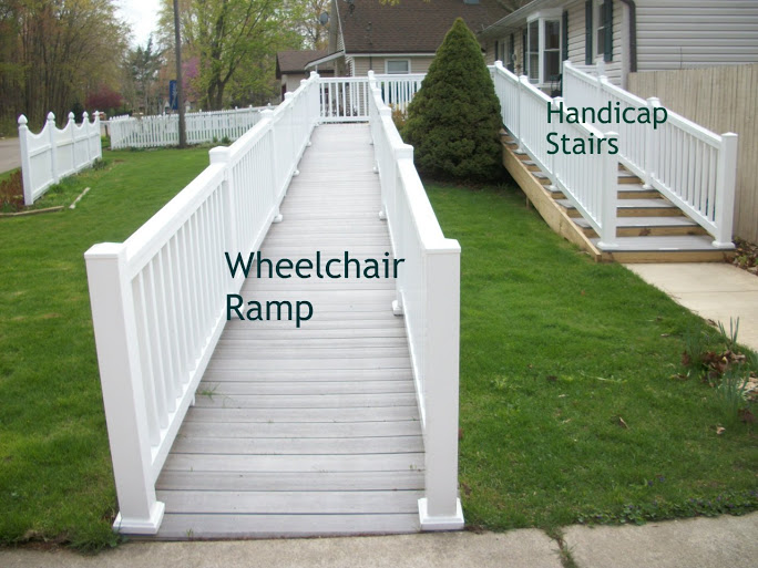 Ada walker handicap stairs instead of a wheelchair ramp for Building a wheelchair accessible home