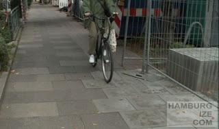 """Hofweg: """"Radweg"""" ist jetzt Gehweg"""