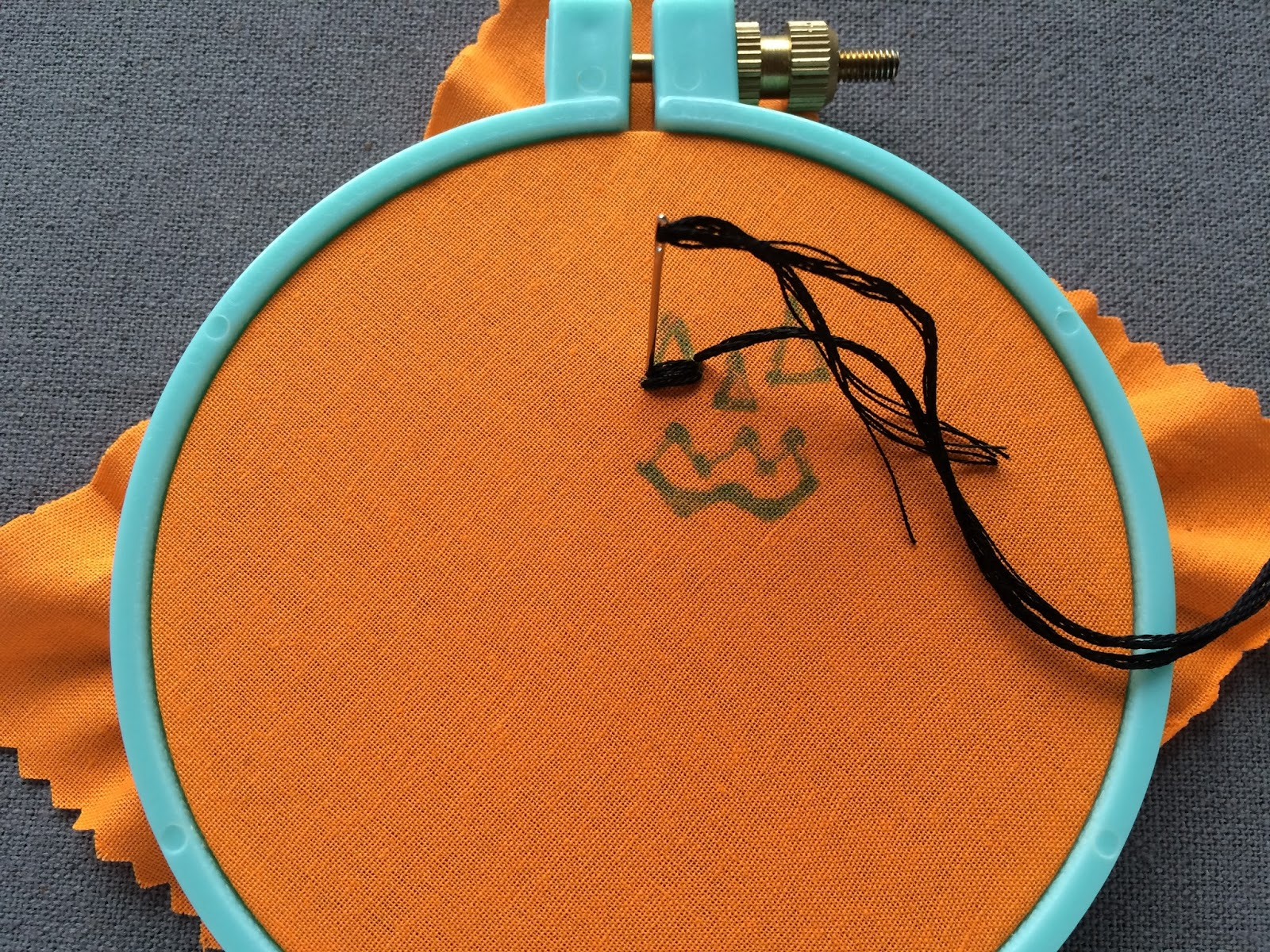 embroidered pumpkin lollipop covers