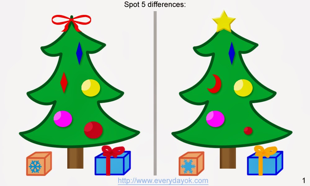 spot the difference christmas tree 3 spot the difference christmas