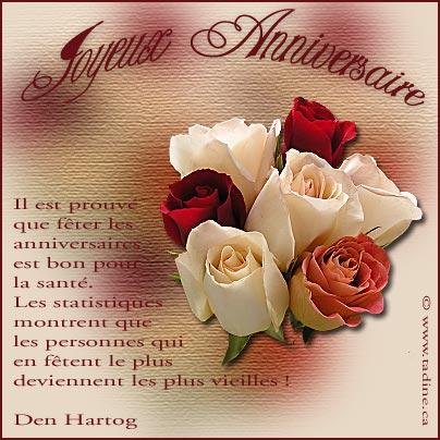 Carte Joyeux Anniversaire Avec Des Fleurs Coleteremelly Official