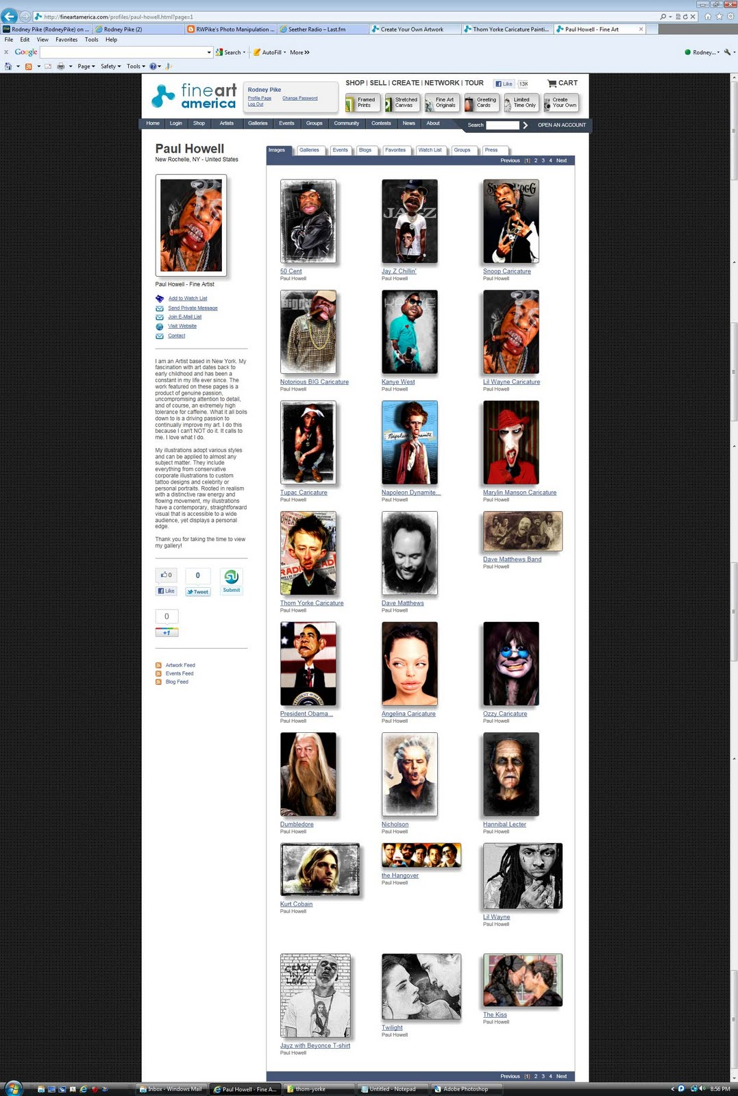Paul Howell's web site with 8 of my works displayed