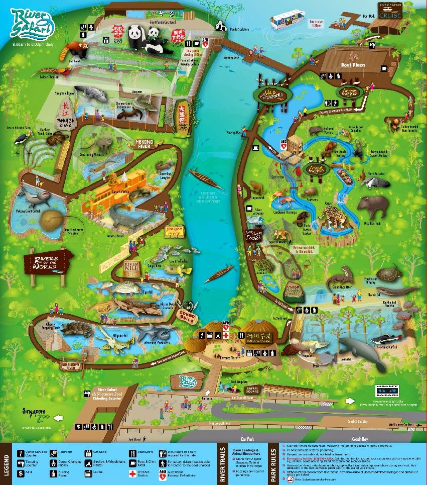 Park map, River Safari, Singapore