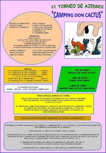 """El 8 de Julio la playa de CARCHUNA acoge el 21 Torneo de Ajedrez """"CAMPING DON CACTUS"""""""