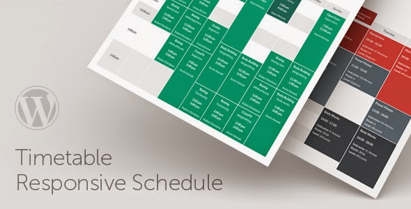 Timetable v3.3 Responsive Schedule For WordPress