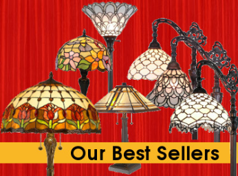 TIFFNY STYLE STAINED GLASS LAMPS