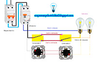 Circuito para instalar combinadas o conmutadas