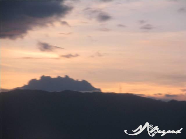 Mt Kinabalu as seen from Kota Kinabalu proper