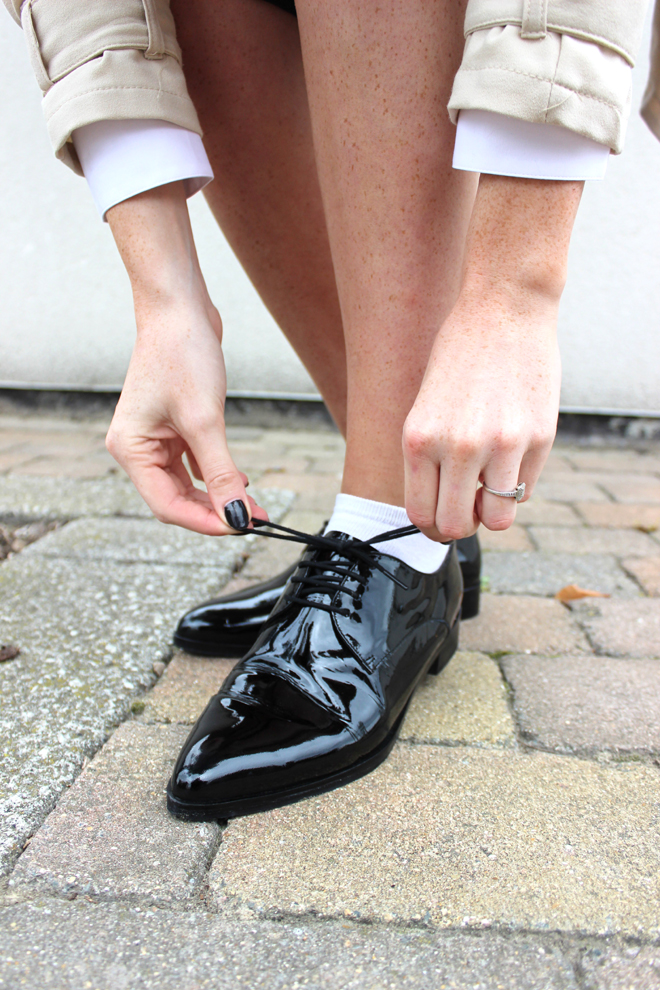 Patent Black Leather Brogues