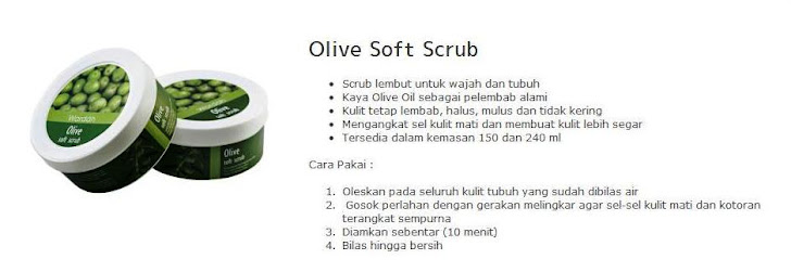 150ml Olive Soft Scrub -$10