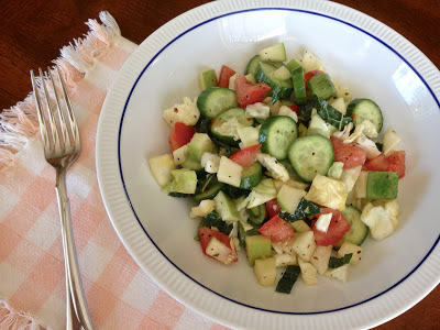 Persian Cucumber, Tomato and Green Apple Salad