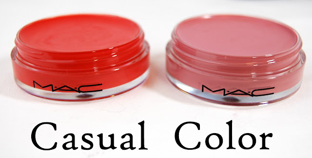 MAC Casual Color Lip and Cheek Color in Relaxation and Out for Fun