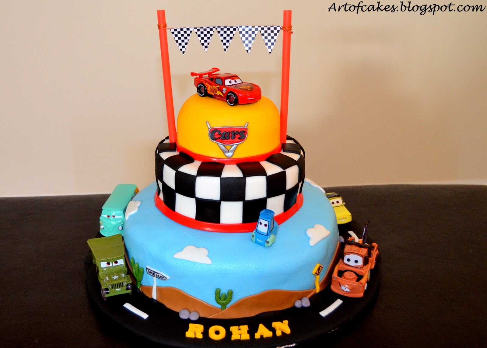 Birthday Cake For Boy 3 Years Old ~ Art of cakes disney cars theme fondant cake