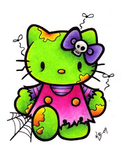 Hello Kitty zombie drawing