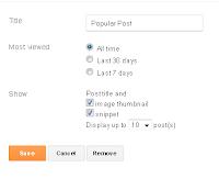 Setting popular post widget