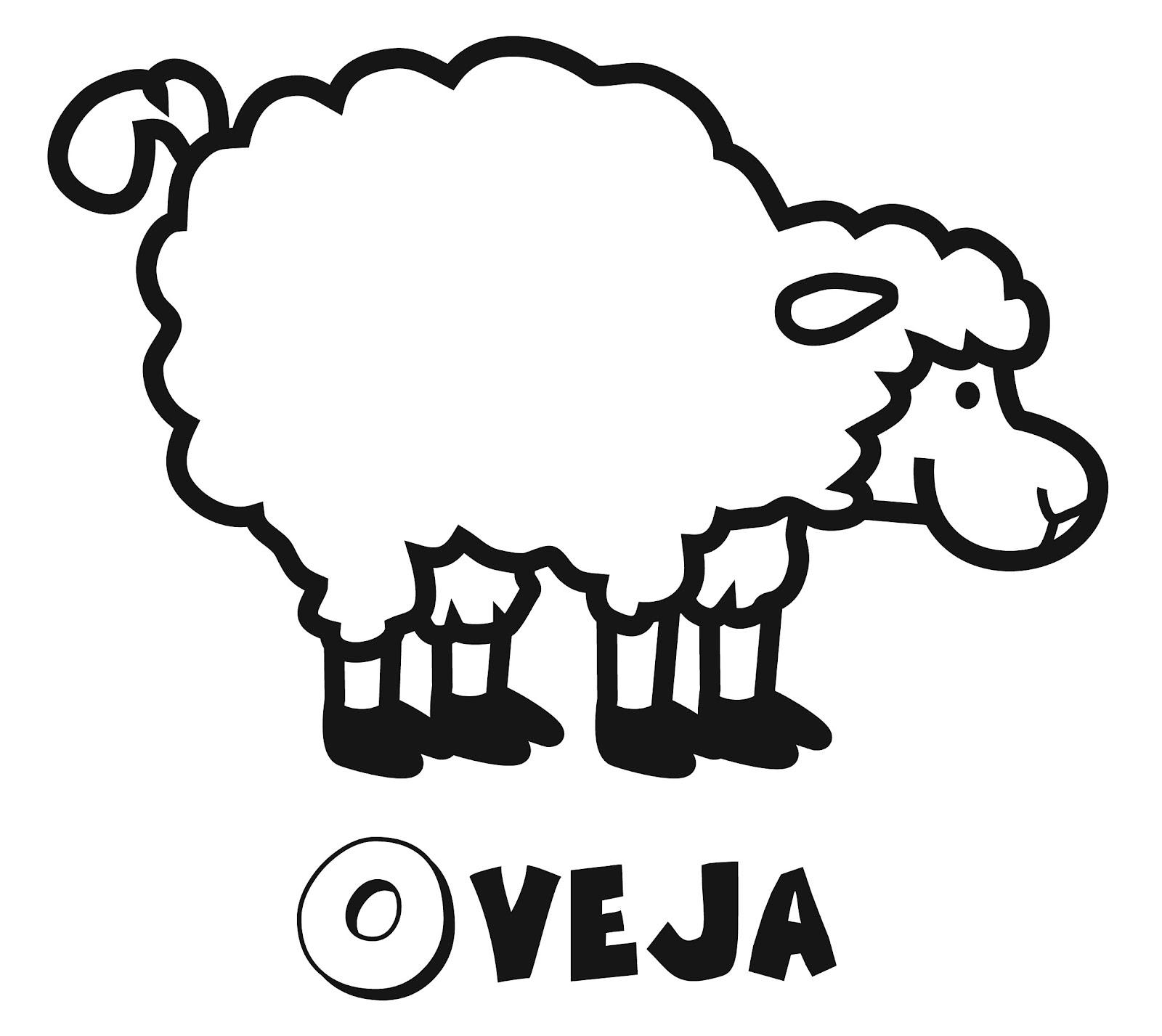 Animales para colorear y pintar: OVEJAS de granja | Colorear y ...