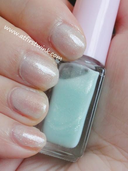 Juicy Cocktail gradation nails set #4 Mint Frappe step 1