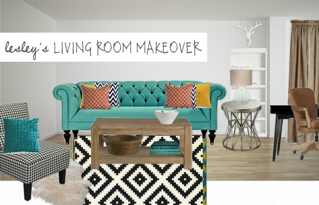 Lesley Myrick's Living Room Makeover on Olioboard