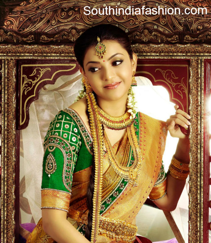 bridal saree blouse designs by golden threads �south india