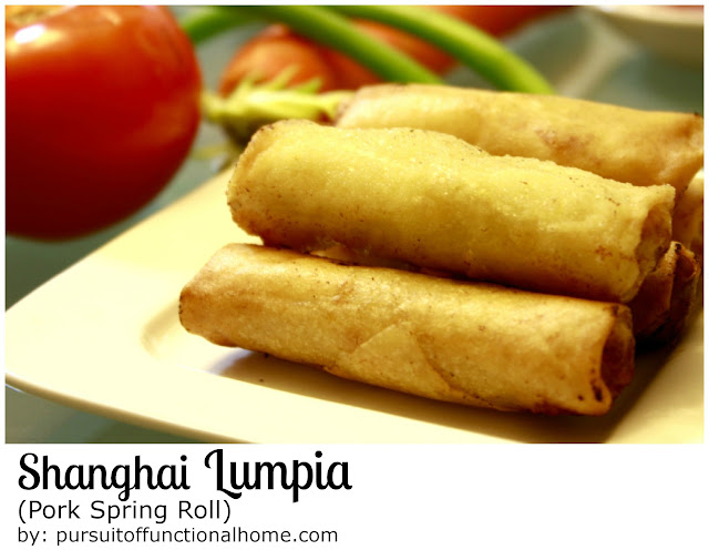 Shanghai Lumpia (Pork Spring Roll)by pursuitoffunctionalhome.com