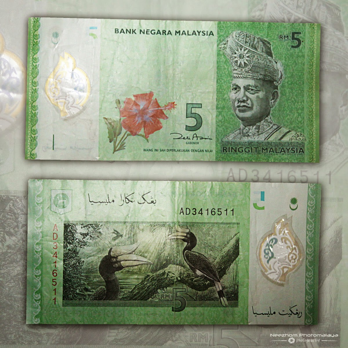 Malaysia 5 Ringgit 4th series polymer banknote