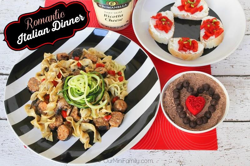 A Romantic 3 Course Italian Dinner Recipe