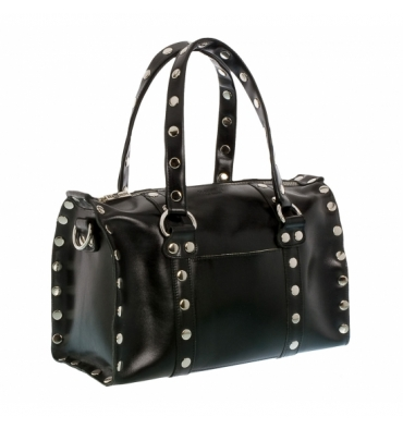Hammitt Los Angeles Westwood Signature Black Satchel Handbag