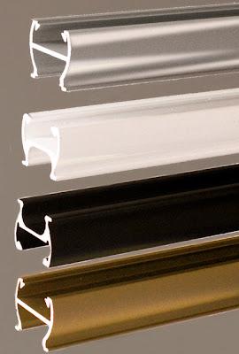 Silbernes, Weißes, Schwarzes, Messingfarbendes Profil