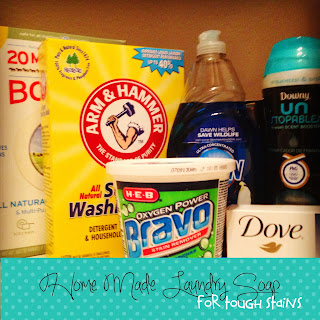 Home Made Laundry Soap for Tough Stains