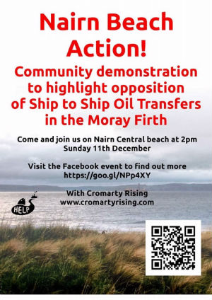 Please come to Nairn Sunday 2pm and support the Moray Firth environment