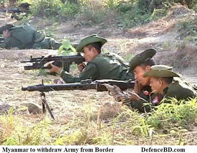 Myanmar Army at Bangladesh Border