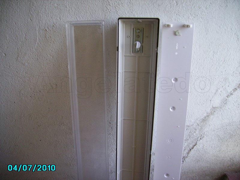 C mo instalar un pantalla fluorescente de 2x36w de for Porta tubos fluorescentes