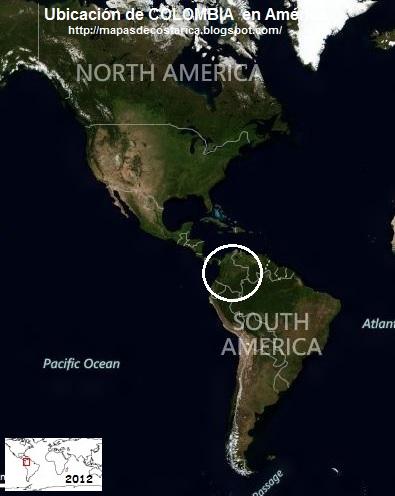 Ubicación de COLOMBIA en América