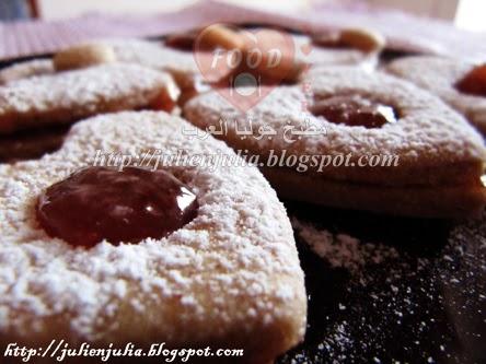 Heart-Shaped Cinnamon Cookies قلوب بسكوت القرفة