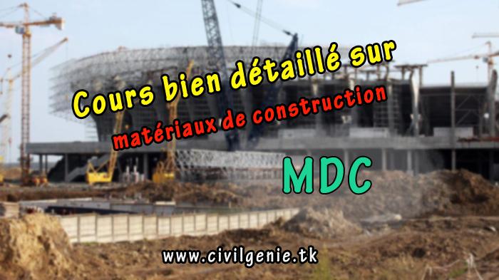 cours mat riaux de construction pdf mdc genie civil france