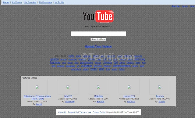 YouTube Old Design