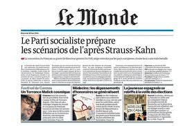 Portada Le Monde Movimiento 15M