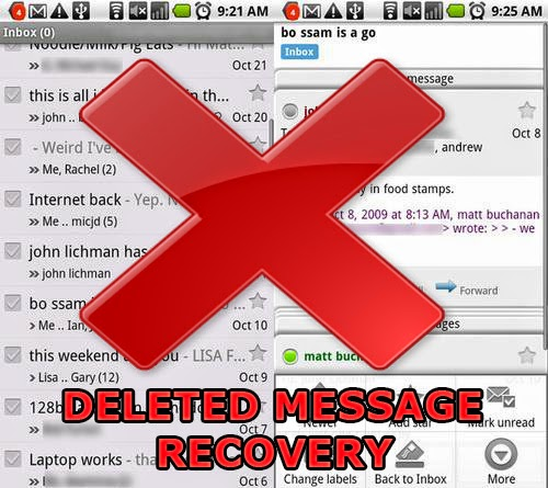 Android deleted messages recovery