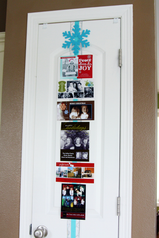 & IHeart Organizing: Happy Holidays: Christmas Card Display