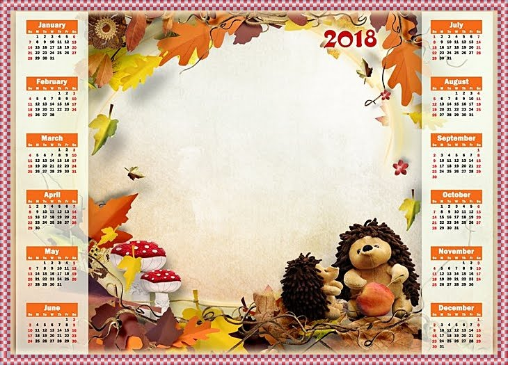 2018 Calendar for Kids-2018 Kalender für Kinder- HIGH ...