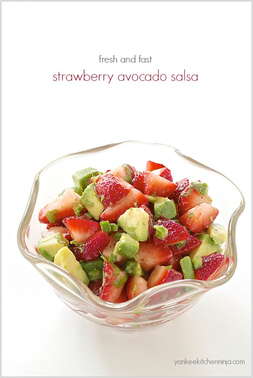 Fresh and fast strawberry avocado salsa