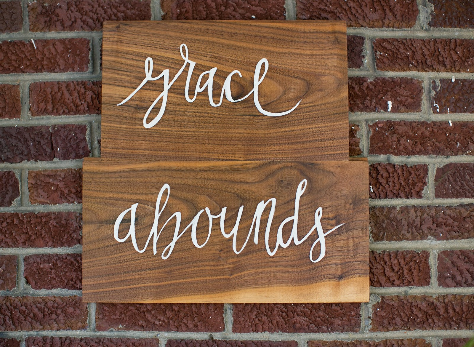 Grace Abounds, hand-lettered sign