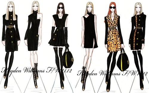 hayden williams fashion illustrator fashion collection sketch drawing