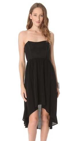 Black Strapless Dress on Strapless Dress Shoshanna Val Strapless Dress Dsquared2 Strapless