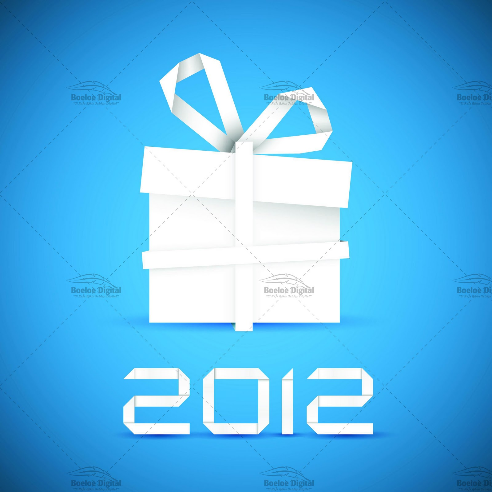 Download Blue Background Vector New Year 2012 Gratis