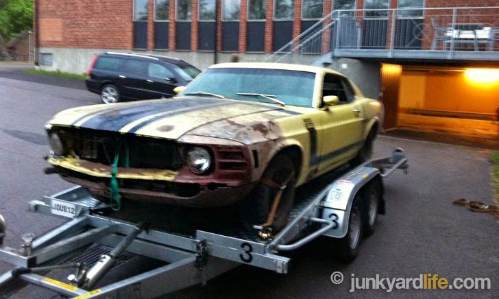 Sweden is home to many American muscle cars. This rare, Boss 302 Mustang has been in storage for 30 years.