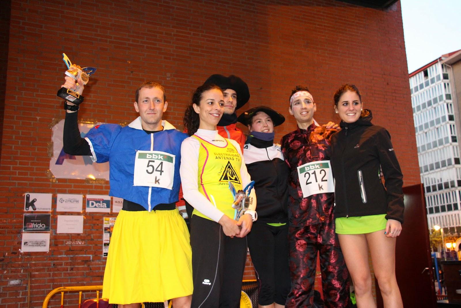 La barakaldesa Belit Solar y el santurtziarra Iker Velasco ganan la carrera San Silvestre