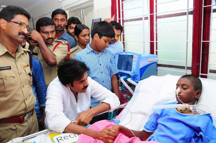 Pawan Kalyan visits Sreeja in Hospital Photos