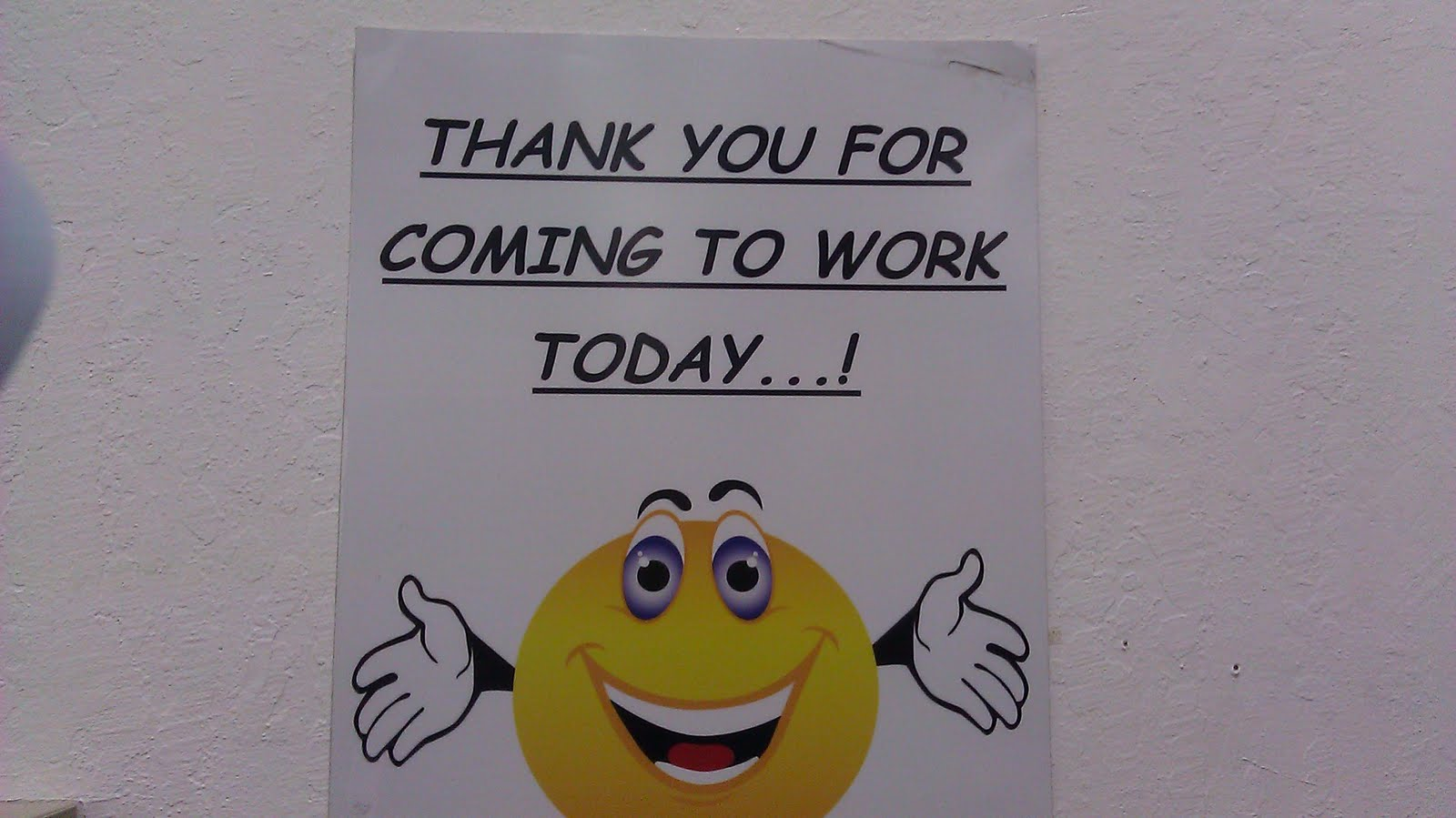 you work: