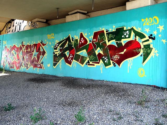 Graffiti Trasy Siekierkowskiej